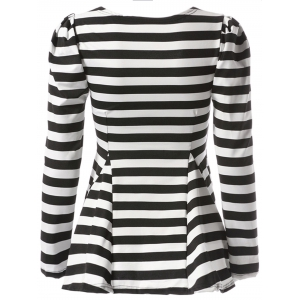 Stylish Sweetheart Neckline Striped T-Shirt For Women - STRIPE ONE SIZE(FIT SIZE XS TO M)
