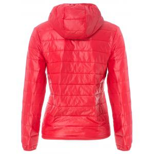Stylish Hooded Long Sleeve Zippered Pocket Design Women's Down Jacket -