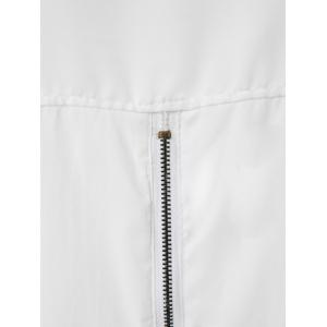 Long Sleeve Zippered Formal Shirt - WHITE ONE SIZE(FIT SIZE XS TO M)