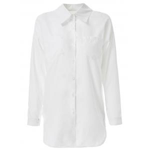 Long Sleeve Zippered Formal Shirt