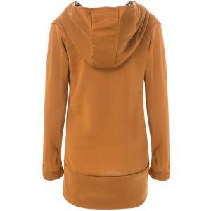 Stylish Long Sleeve Leopard Zippered Women's Hoodie -