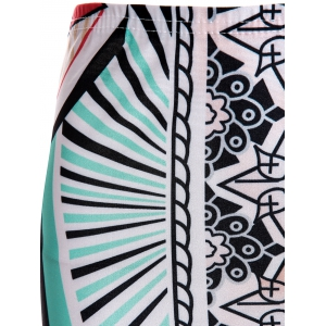 Printed Short Two Piece Bandage Dress - COLORMIX S