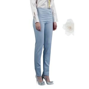 Ruched Waist Solid Color Pants -