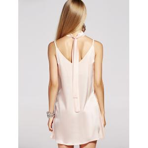 Mini Slip Satin Vestido Dress - APRICOT XL