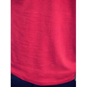 Slimming Button Design Solid Color T-Shirt For Men -