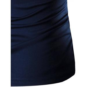 Round Neck Printing Short Sleeve T-Shirt For Men - CADETBLUE 3XL