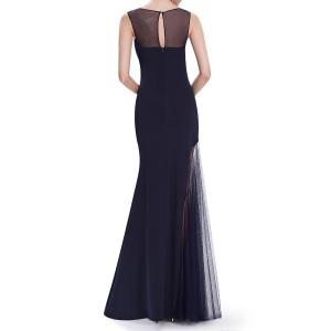Voile Splicing See-Through Maxi Prom Dress -