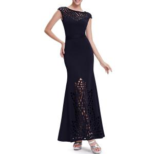 Hollow Out Maxi Mermaid Evening Dress -