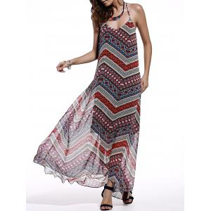 Women's Trendy Spaghetti Strap Sleeveless Open Back Printed Dress