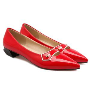 Elegant Pointed Toe and Solid Color Design Flat Shoes For Women -