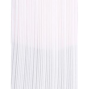 Pleated Two Tone Cami Tank Top - WHITE/BLACK S