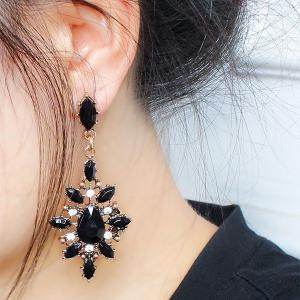 Pair of Vintage Geometric Water Drop Earrings For Women -