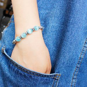 Faux Gem Eye Beaded Bracelet -