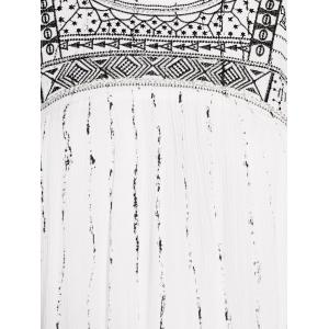 Stylish Round Neck Cutout Embroidery Beaded Dress For Women -