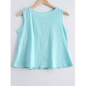 Casual Scoop Neck Crochet Lace Tank Top For Women -