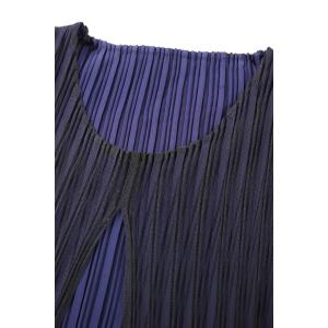 Solid Color Pleated Two-Layer Dress -