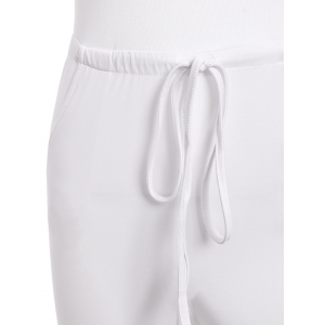 Sleeveless Hollow Out Drawstring Criss Cross Party Jumpsuit - WHITE S