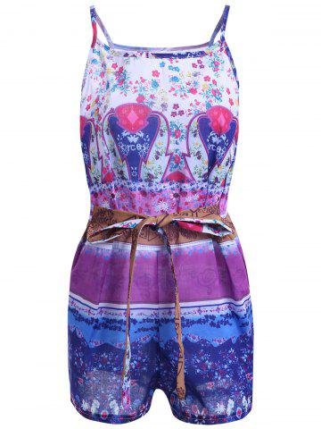 Best Bohemian Spaghetti Strap Print Romper For Women
