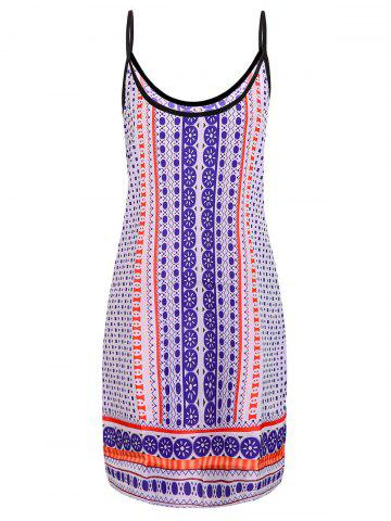 Affordable Fashionable Spaghetti Strap Printed Dress For Women - XL COLORMIX Mobile
