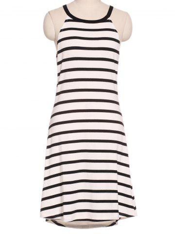 Outfit Refreshing Women's Striped Round Neck Tank Dress STRIPE XL