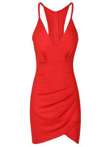 Shop Sexy Backless Spaghetti Strap Solid Color Bodycon Dress For Women