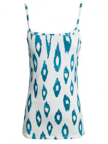 Chic Stylish Spaghetti Strap Printed Loose Tank Top For Women