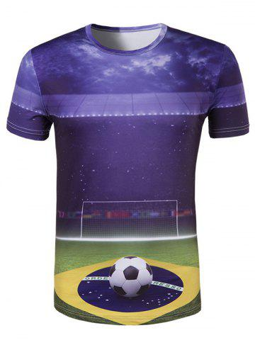 Chic Slim Fit Round Collar UEFA Champions League Printing T-Shirt For Men