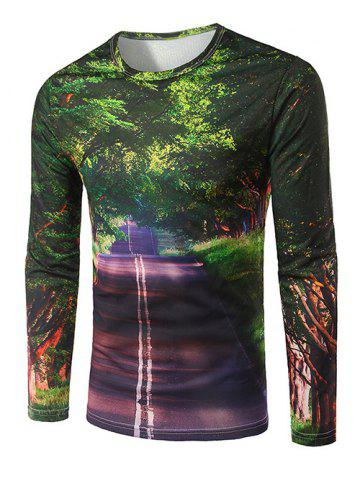 Outfits Slim Fit Round Collar Boulevard Printing T-Shirt For Men