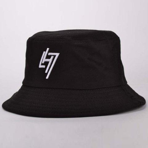 Hot Simple Letter Embroidery Sunscreen Bucket Hat For Women