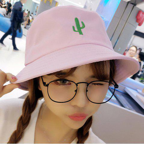 Affordable Simple Desert Cactus Embroidery Sunscreen Bucket Hat For Women
