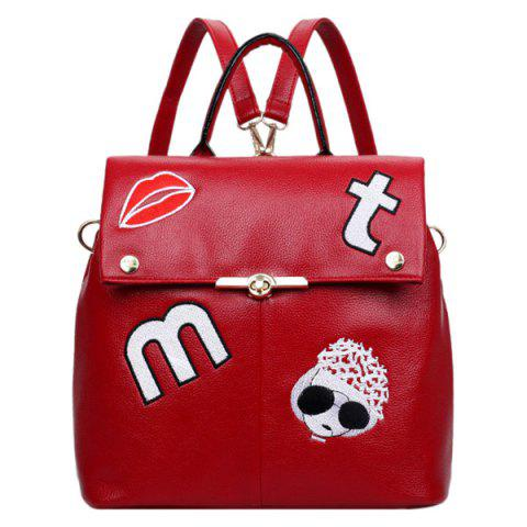 Outfits Fashion Embroidery and Cover Design Satchel For Women
