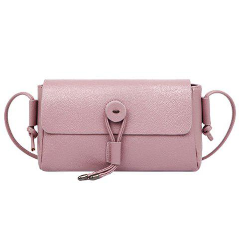 Online Simple Solid Color and Cover Design Crossbody Bag For Women - PINK  Mobile