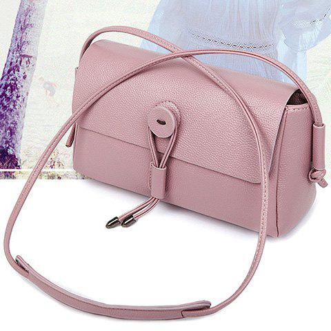 Shop Simple Solid Color and Cover Design Crossbody Bag For Women - PINK  Mobile
