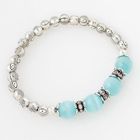 Store Faux Gem Eye Beaded Bracelet