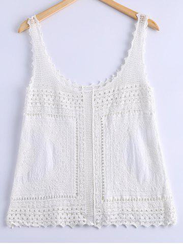 Affordable Stylish Crochet Lace Tank Top For Women