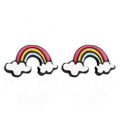 Shop Pair of Sweet Rainbow Earrings For Women