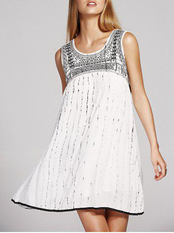 Best Stylish Round Neck Cutout Embroidery Beaded Dress For Women