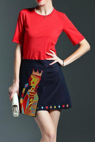 Best Embroidered Pocker Queen Skirt and T-Shirt Suit