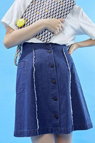 Best Single-Breasted Denim Skirt