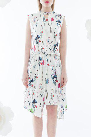 Outfits Hollow Out Print Dress