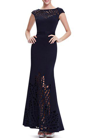 Affordable Hollow Out Maxi Mermaid Evening Dress