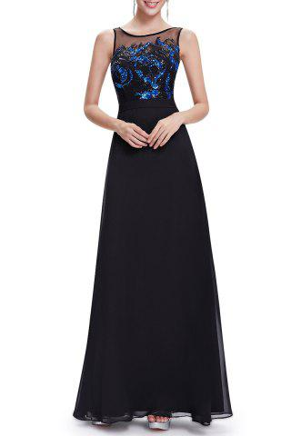 Sale Sequined Sleeveless Maxi Prom Dress