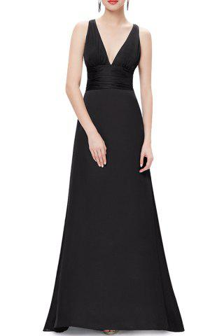 Outfit Plunge Ball Gown Long Formal Dress