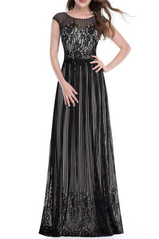 Affordable Lace Floor-Length Prom Dress