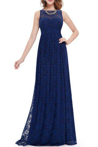 Outfits Lace High Waisted Maxi Evening Dress