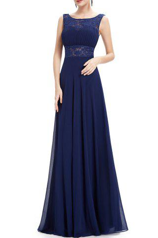 New Backless Pleated Maxi Prom Dress