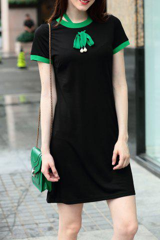 Outfit Self Tie Mini T-Shirt Dress