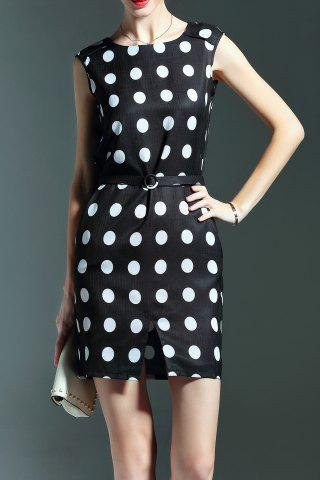 Affordable Sleeveless Polka Dot Printed Dress