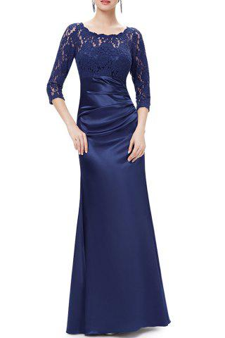 Store Lace Splicing Maxi Evening Gown Prom Dress