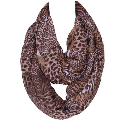 Fashion Stylish Wild Leopard and Tiger Stripe Print Voile Scarf For Women